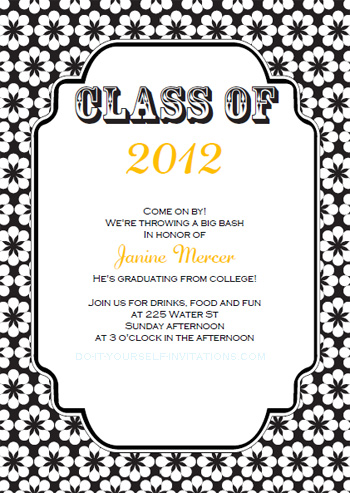 7 Images of Printable Graduation Invitations