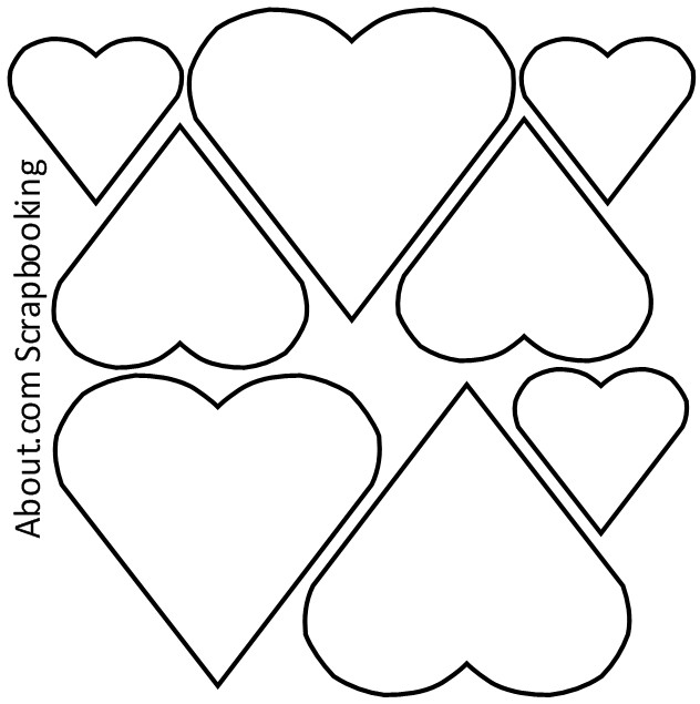 9 Images of Valentine Printable Heart Patterns