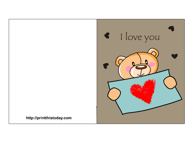 7 Images of Free Printable I Love You Cards For Her