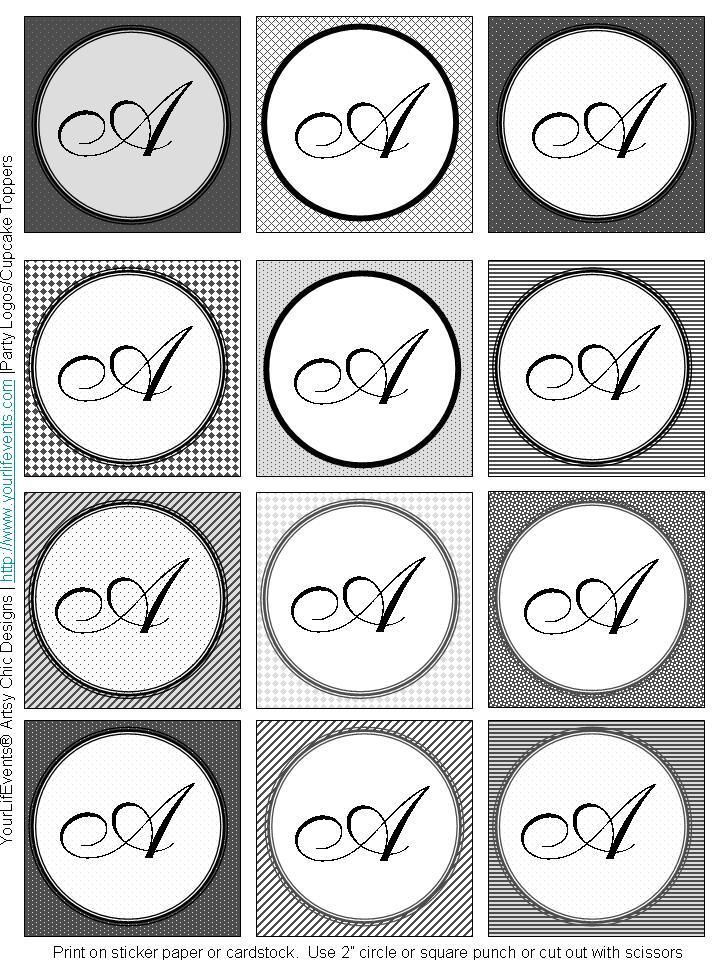 6 Images of Monogram Letter B Printable