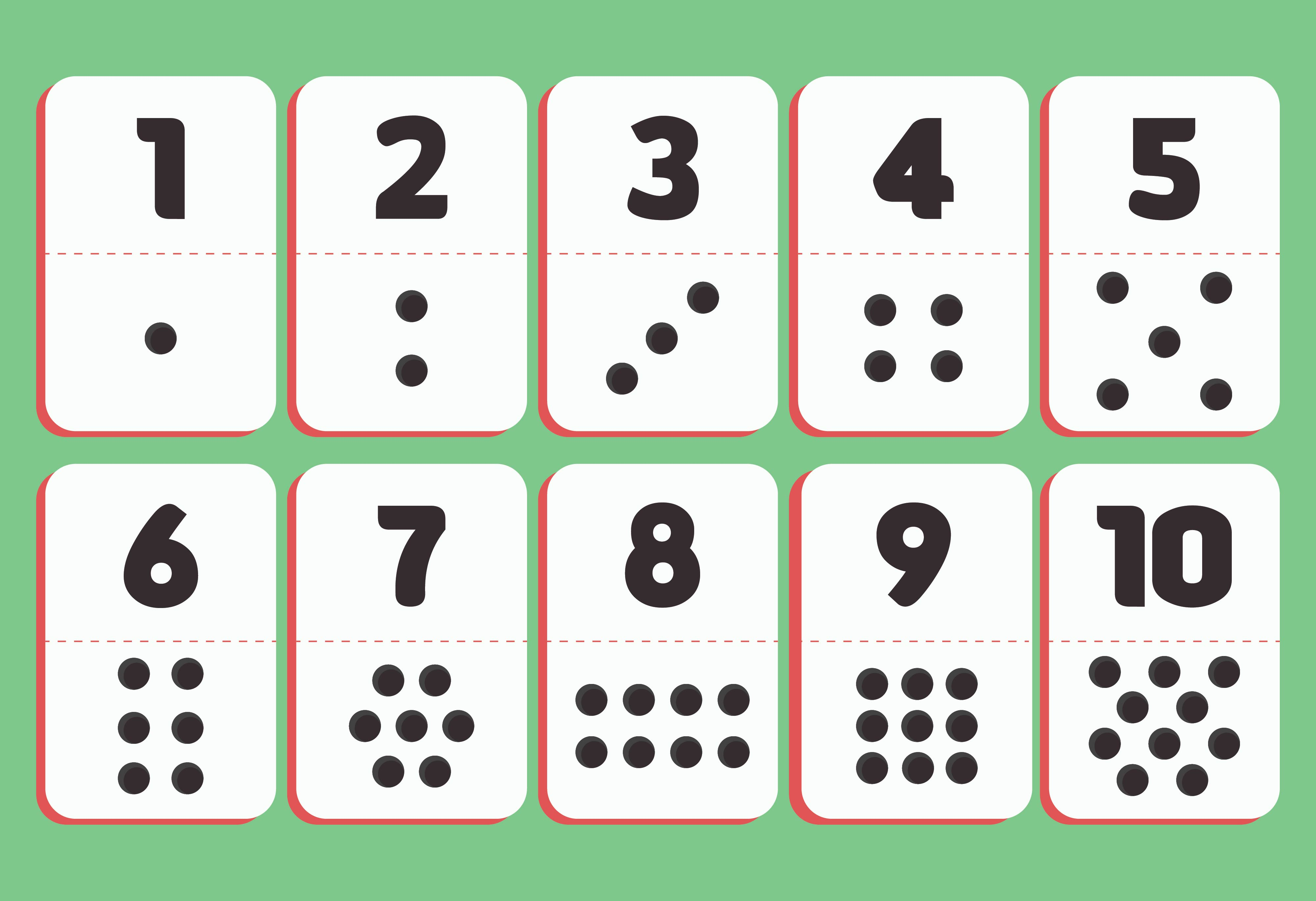 It's just an image of Impeccable Printable Number Cards 1 10