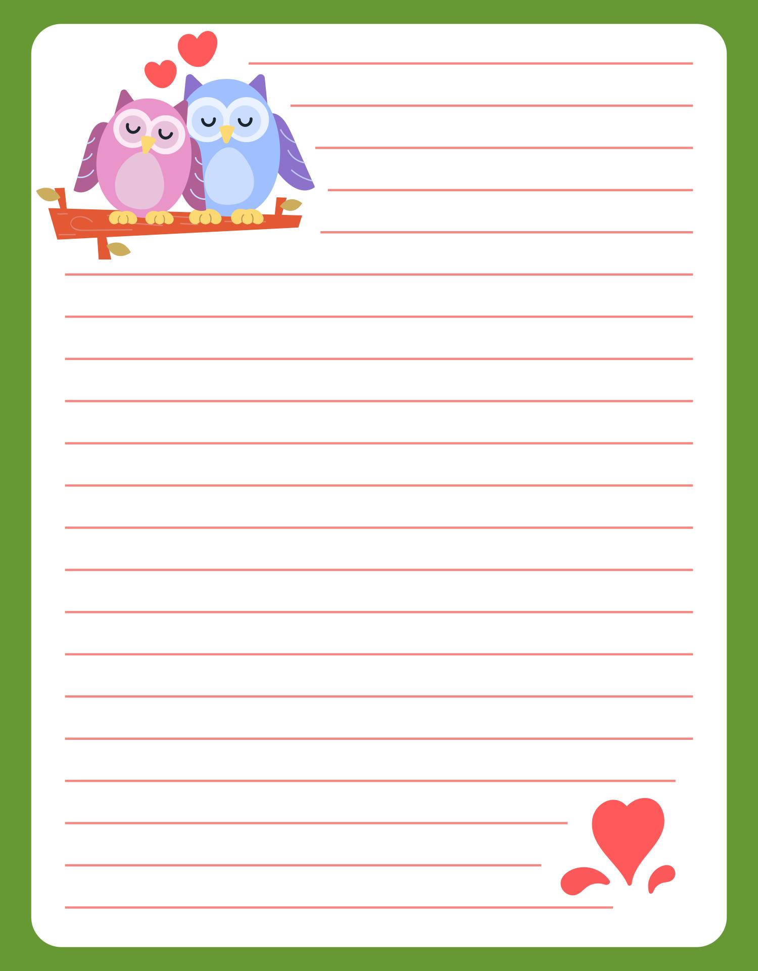 9 Best Printable Letter Paper Cute Printablee Com