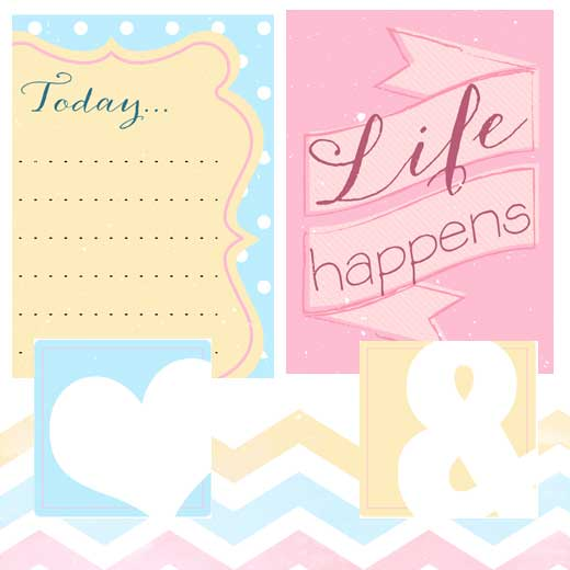 8 Images of Free Printable Scrapbook Sets