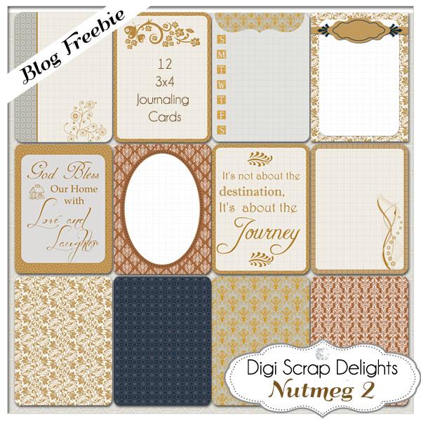 Free Printable Scrapbook Journal Cards