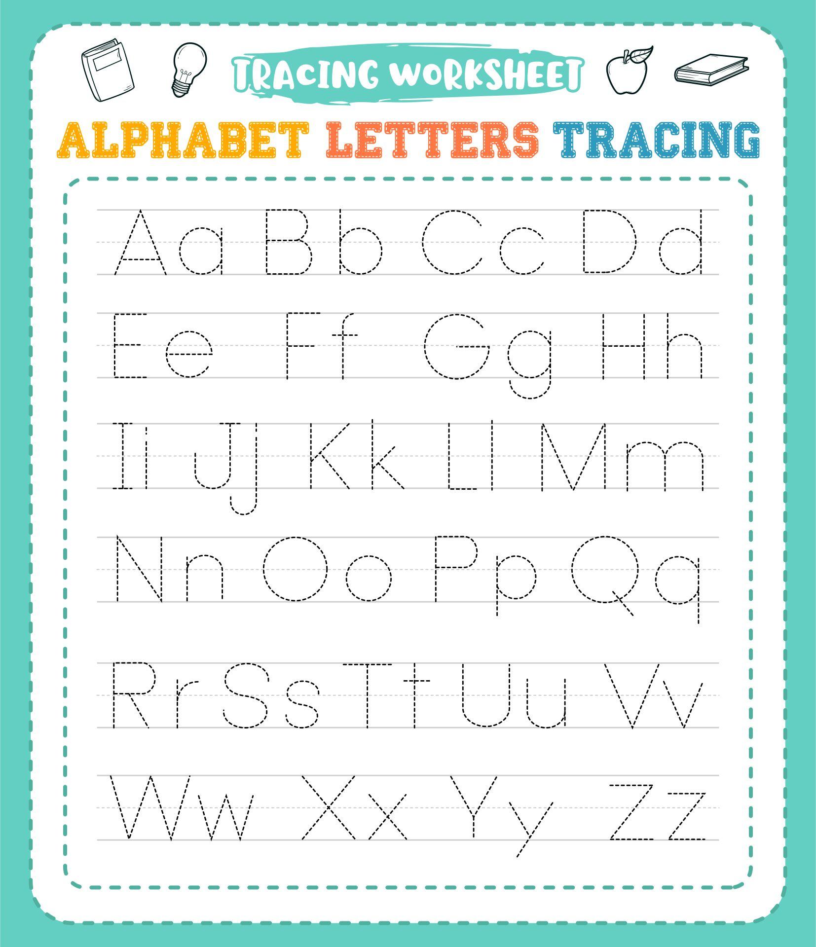 Printable Tracing Worksheets Preschool
