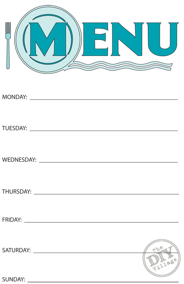 Similiar Printable Blank Menu Planning Keywords – Free Menu Templates Printable