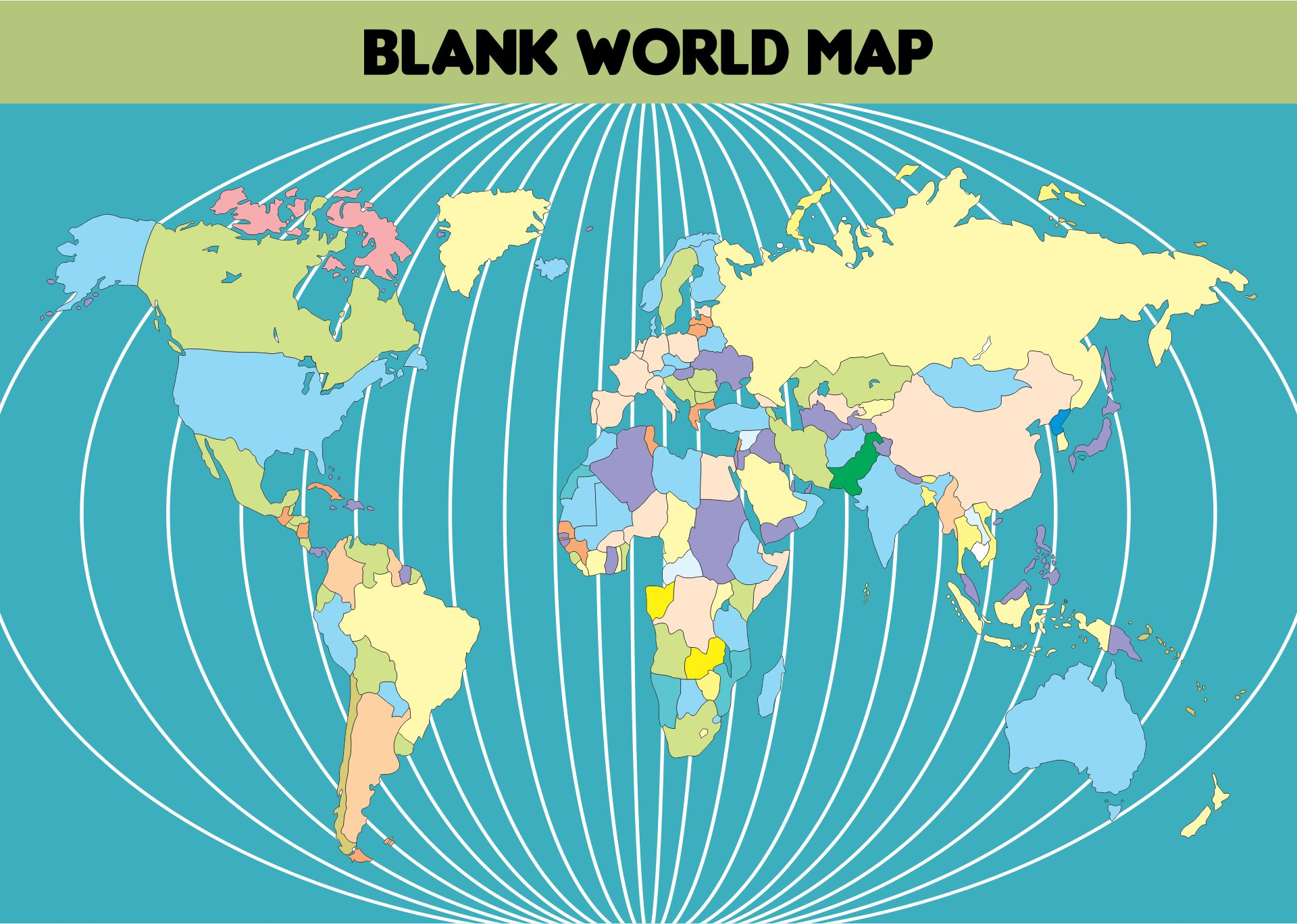 6 Images of Free Large Printable World Map