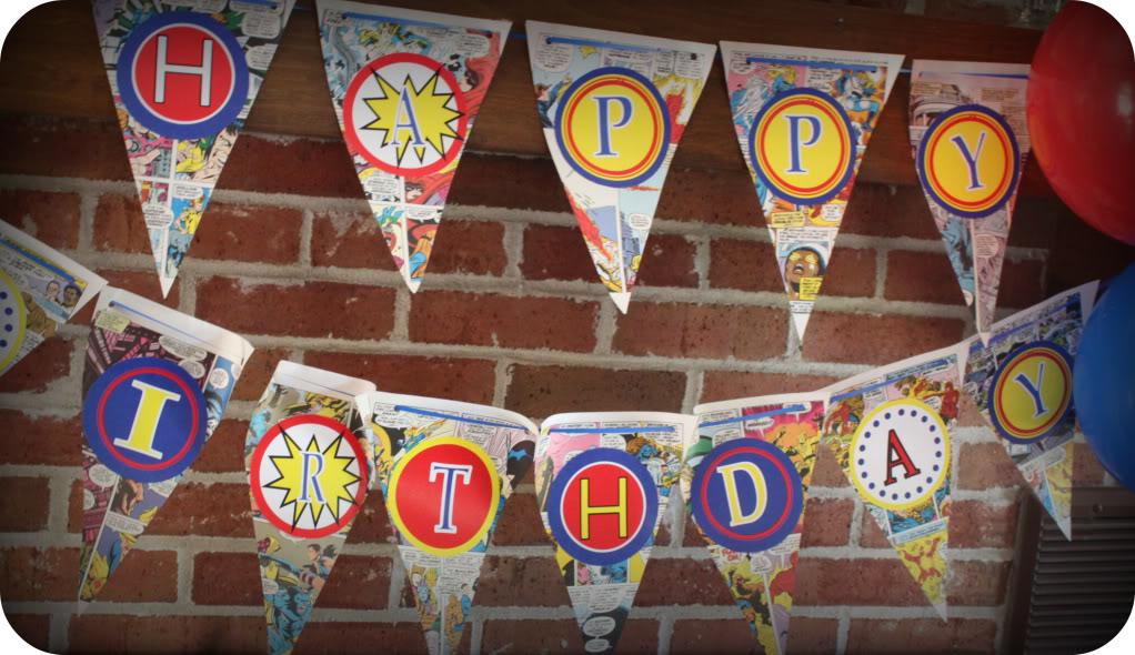 Free Superhero Birthday Banner