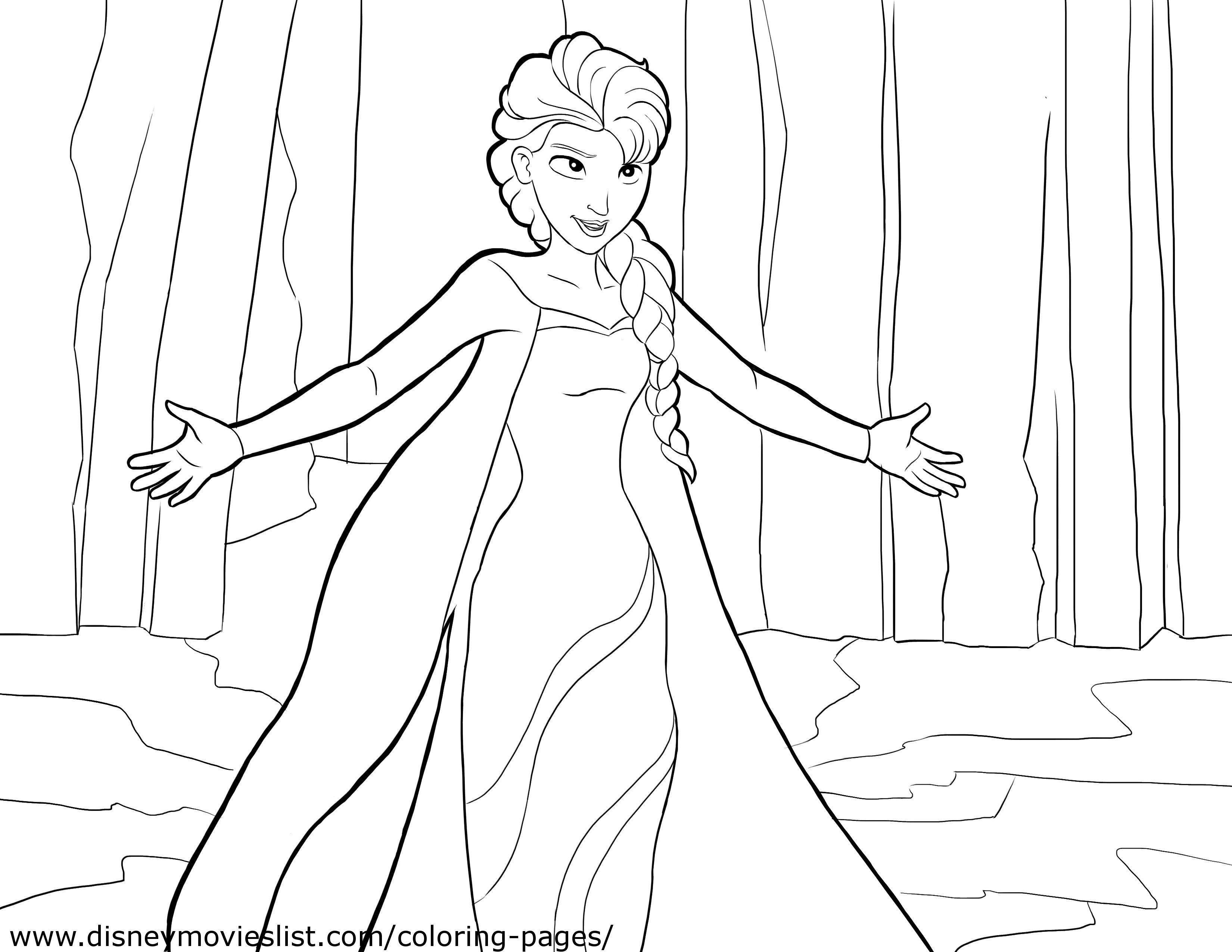 7 Images of Free Printable Disney Frozen Coloring Page