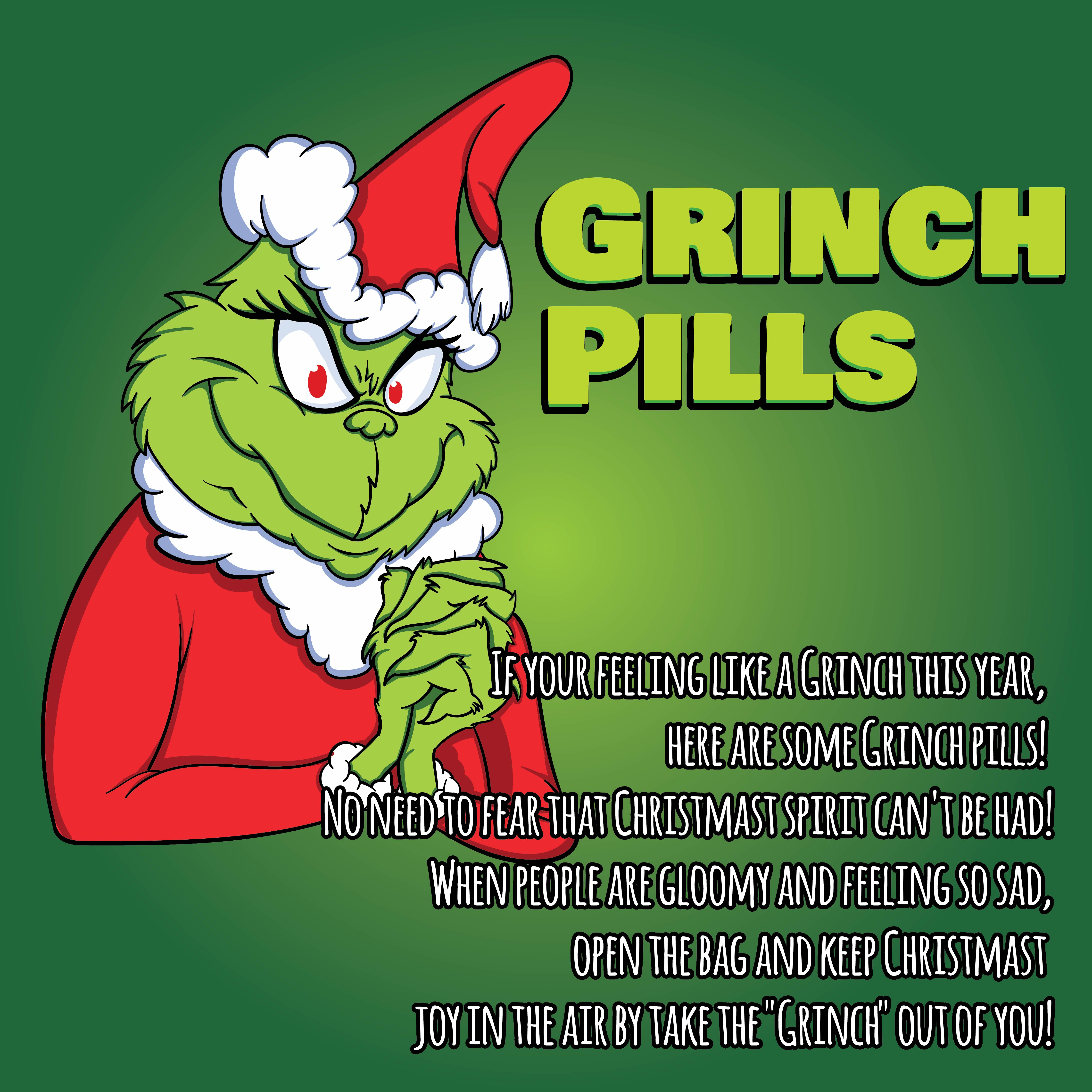 7 Images of Grinch Pills Printable Tags