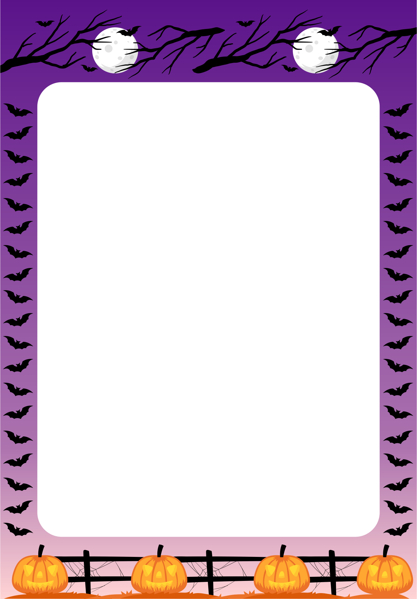 6 Images of Printable Halloween Border Clip Art