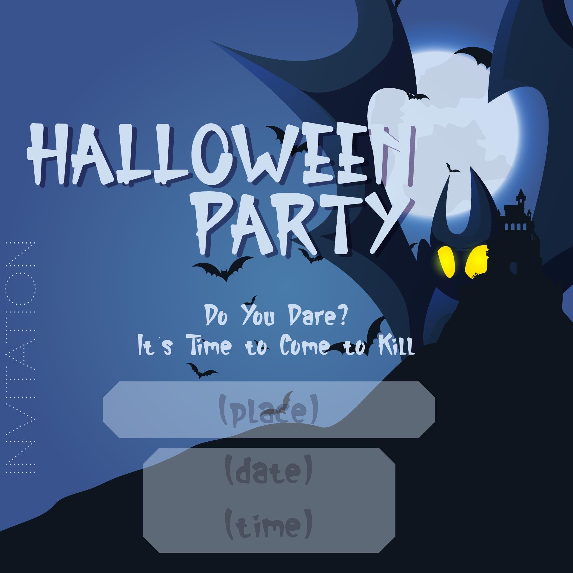 Halloween Party Invitation Free