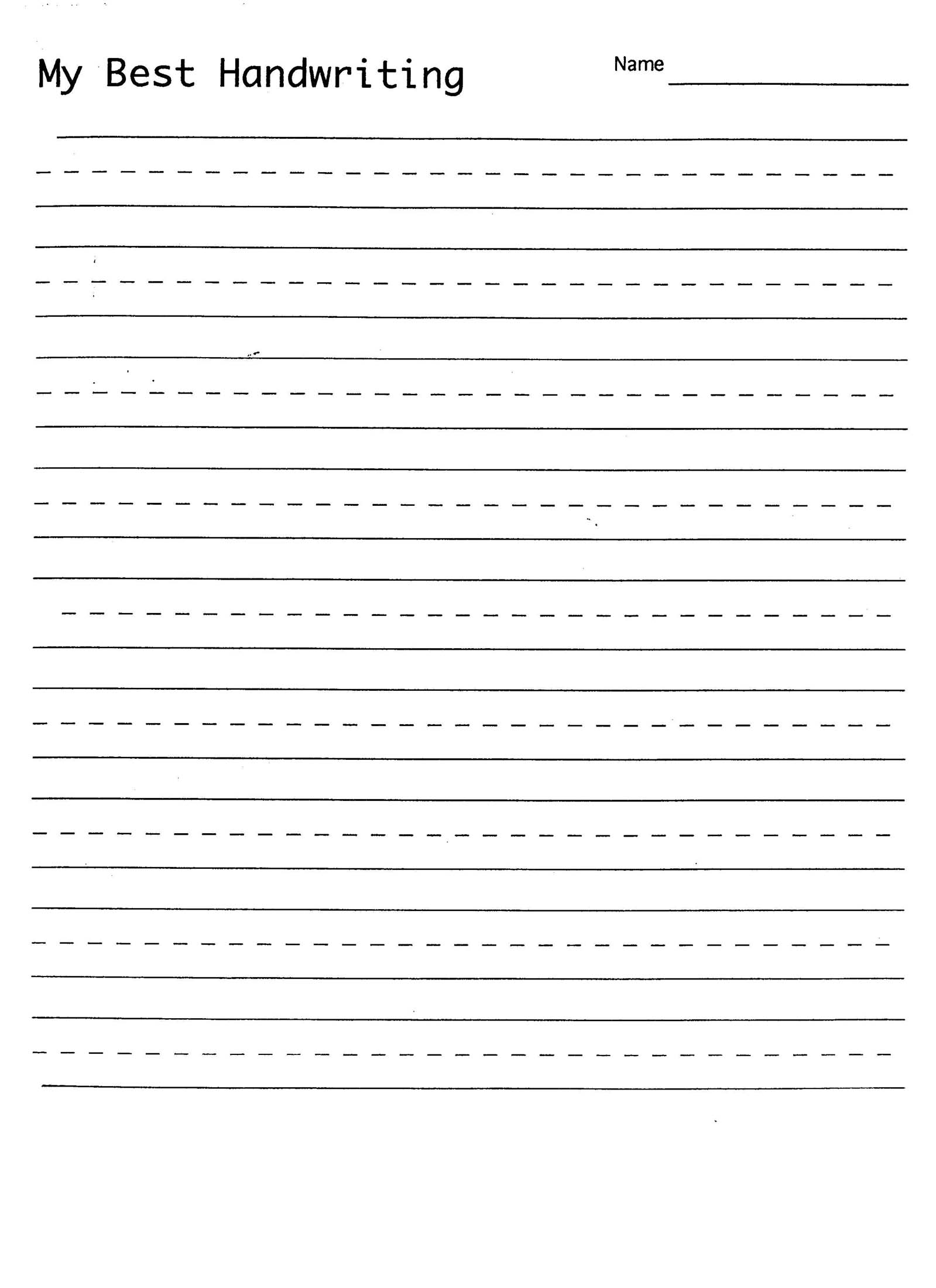 Printables Handwriting Practice Worksheet 6 best images of handwriting practice printable worksheets free writing sheets