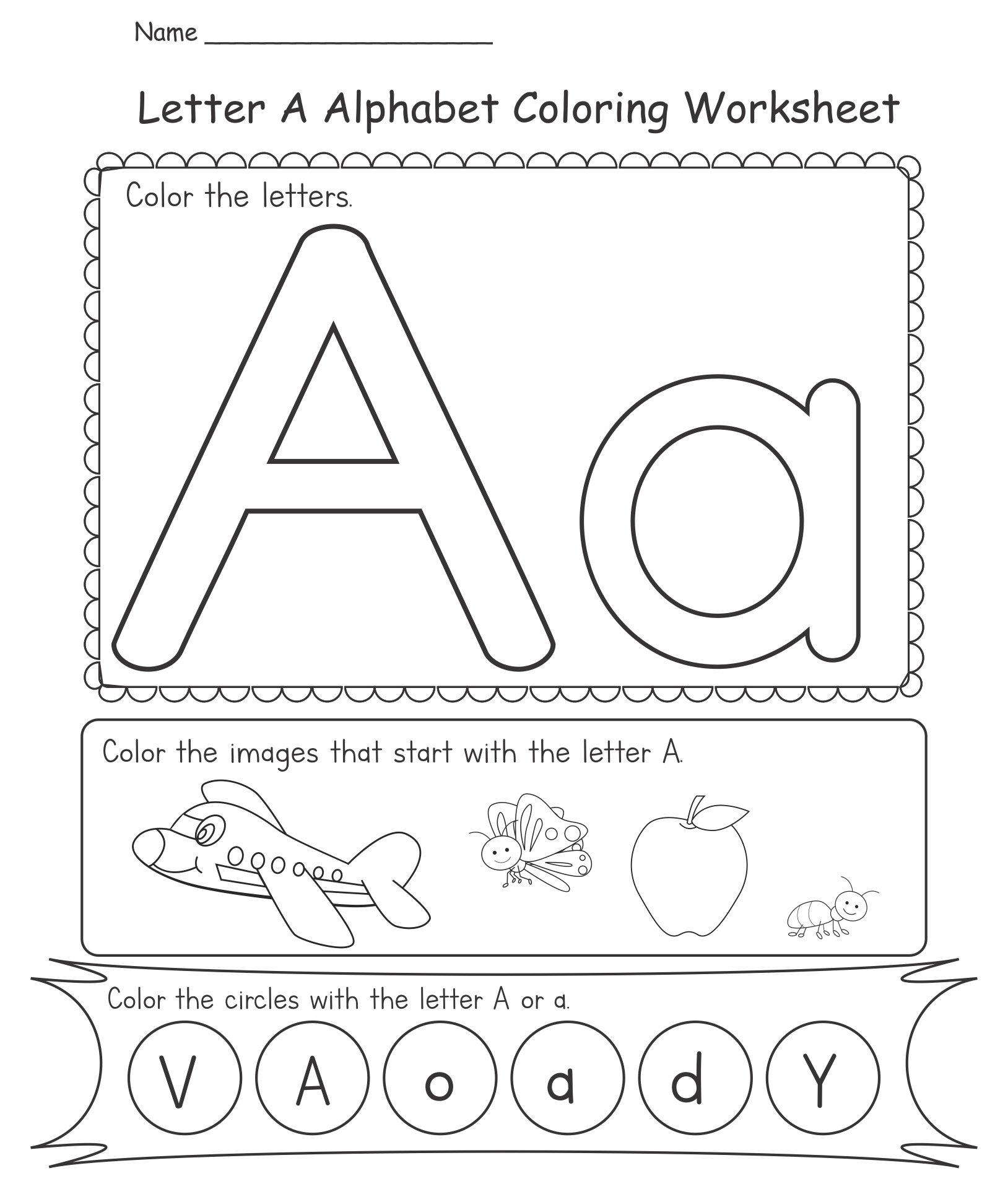 9 Images of Free Printable Alphabet Worksheets Kindergarten