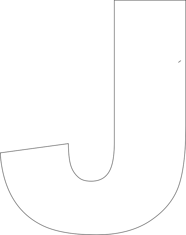 Large Printable Letter J Templates