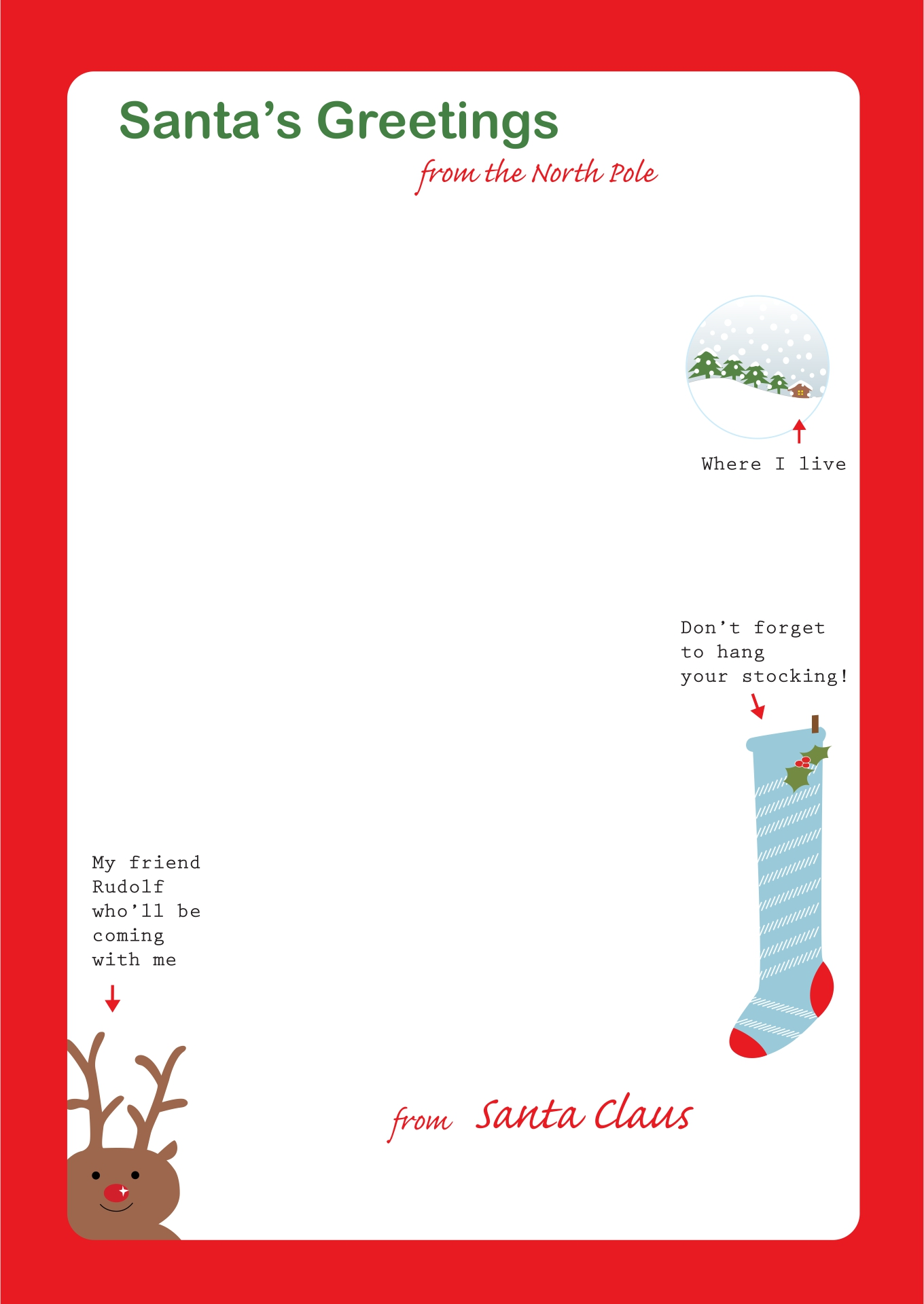 letters from santa templates to print for free 6 best images of printable letter to santa 29106