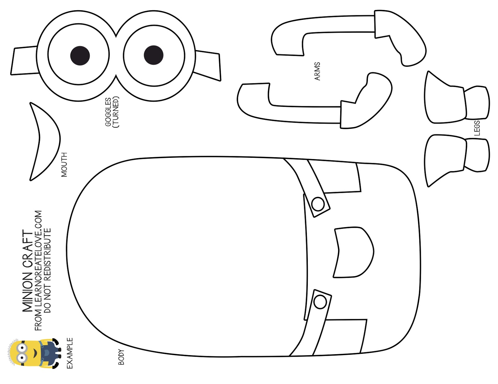 7 Images of Minion Cutouts Printable