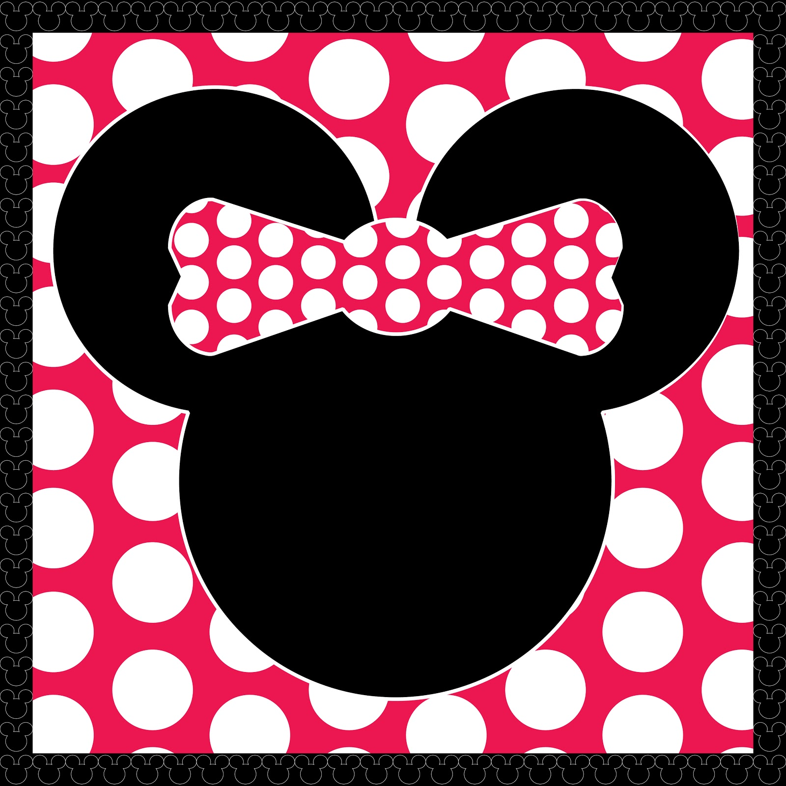 9 best images of minnie mouse cutouts printable free for Free printable minnie mouse bow template