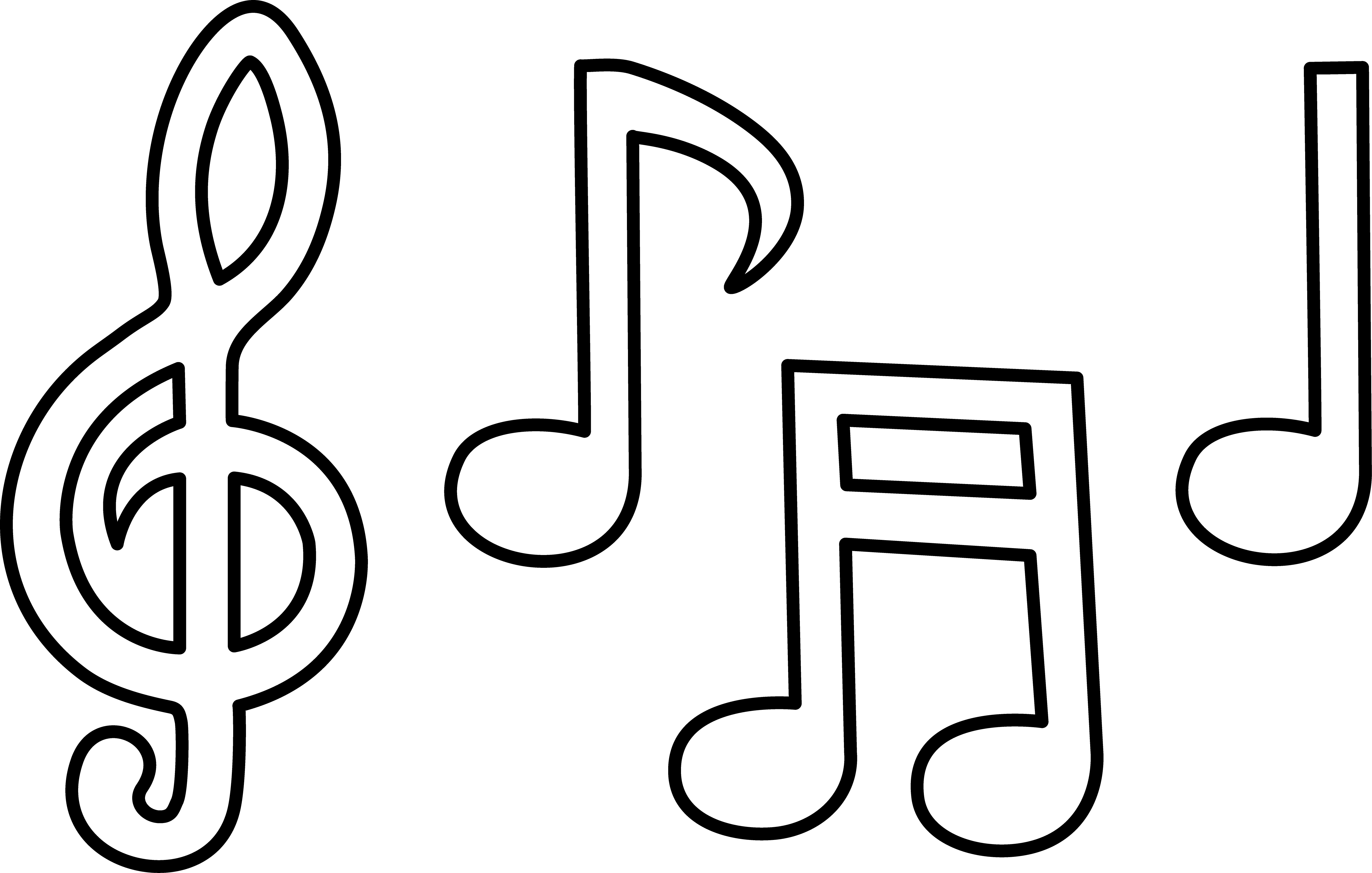4 Images of Free Printable Music Notes