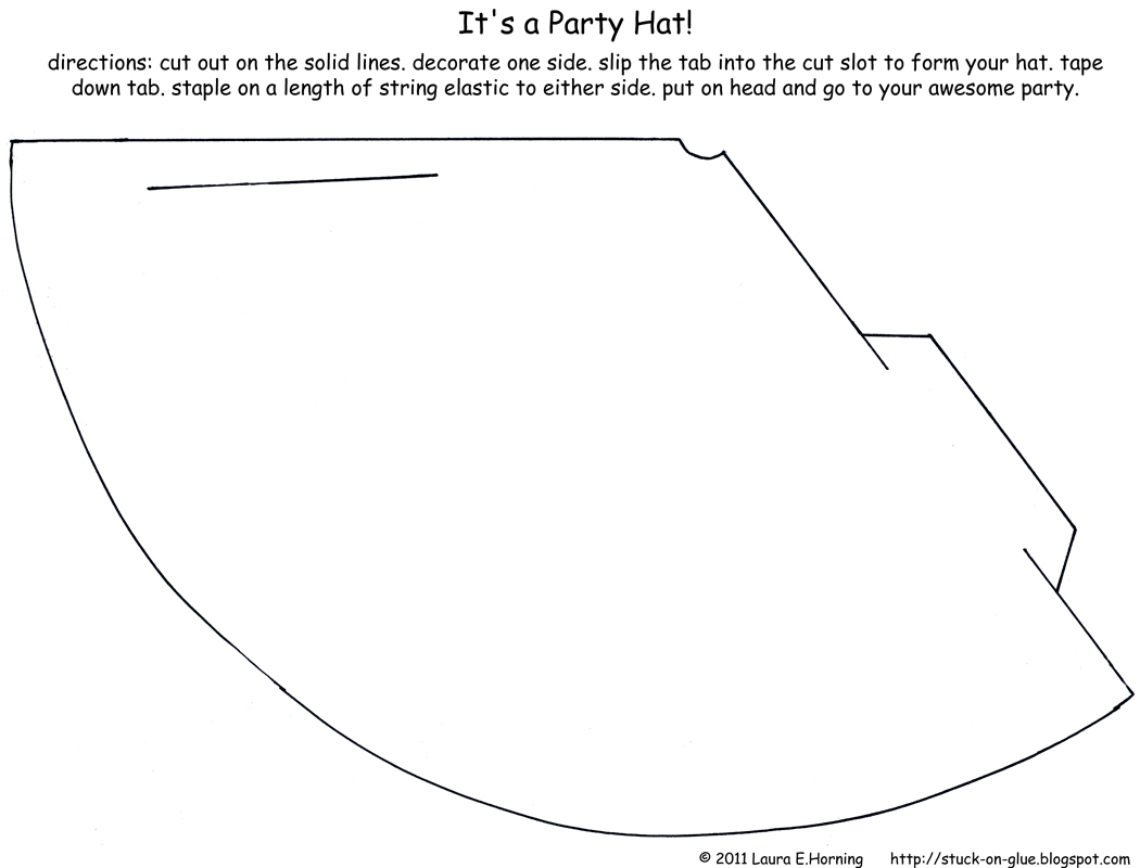 7 Images of Party Hat Printable Pattern