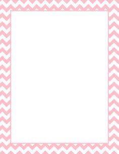 Pink Chevron Border Clip Art