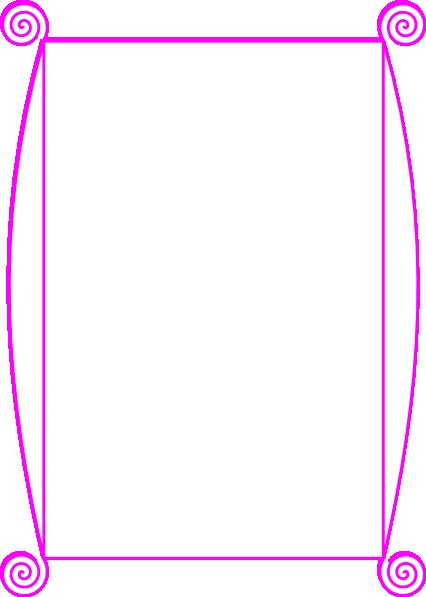 Pink Page Border Clip Art