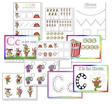 9 Images of Circus Theme Preschool Printable Worksheets