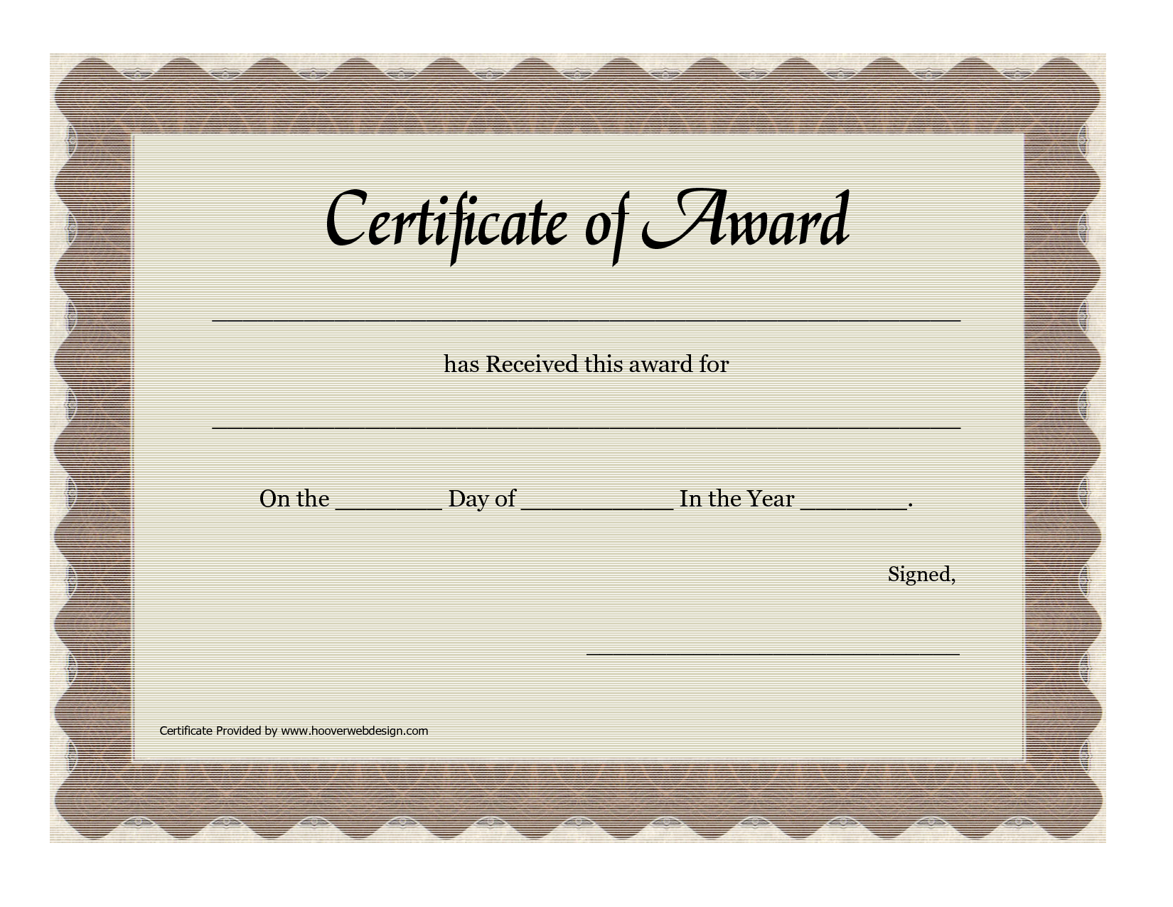 6 Images of Free Printable Award Certificate Template
