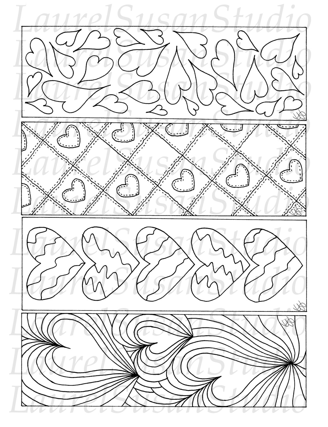 valentine bookmarks to color : Printable Bookmarks Valentine S Day Coloring Pages