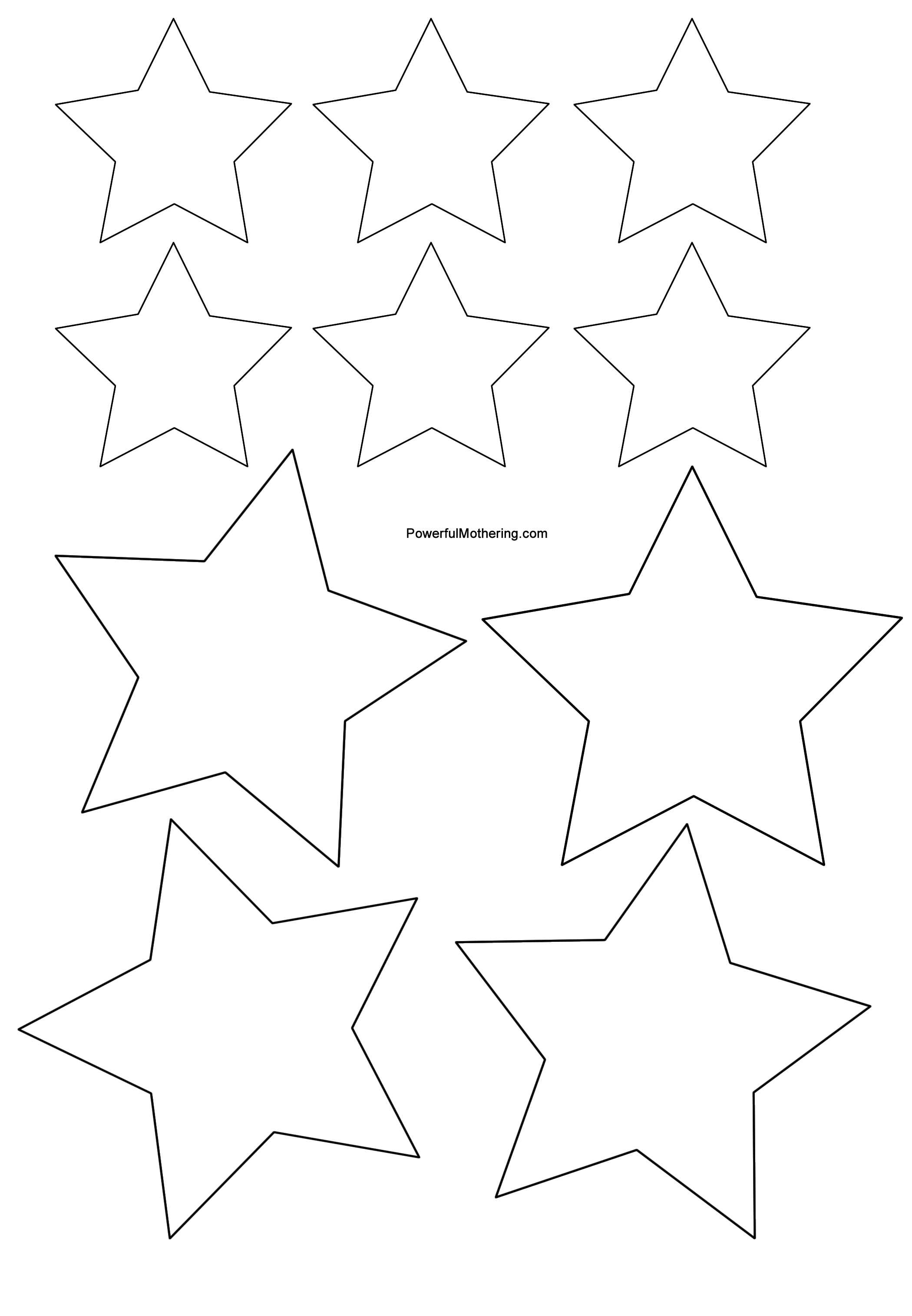 4 Images of Star Cutouts Printable