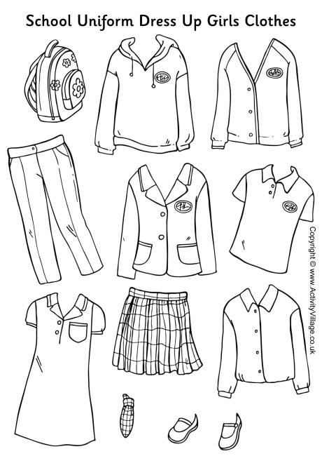 8 Images of Fall Clothes Printables