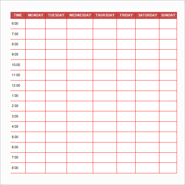 daily schedule template for students - free printable book report template middle school daily