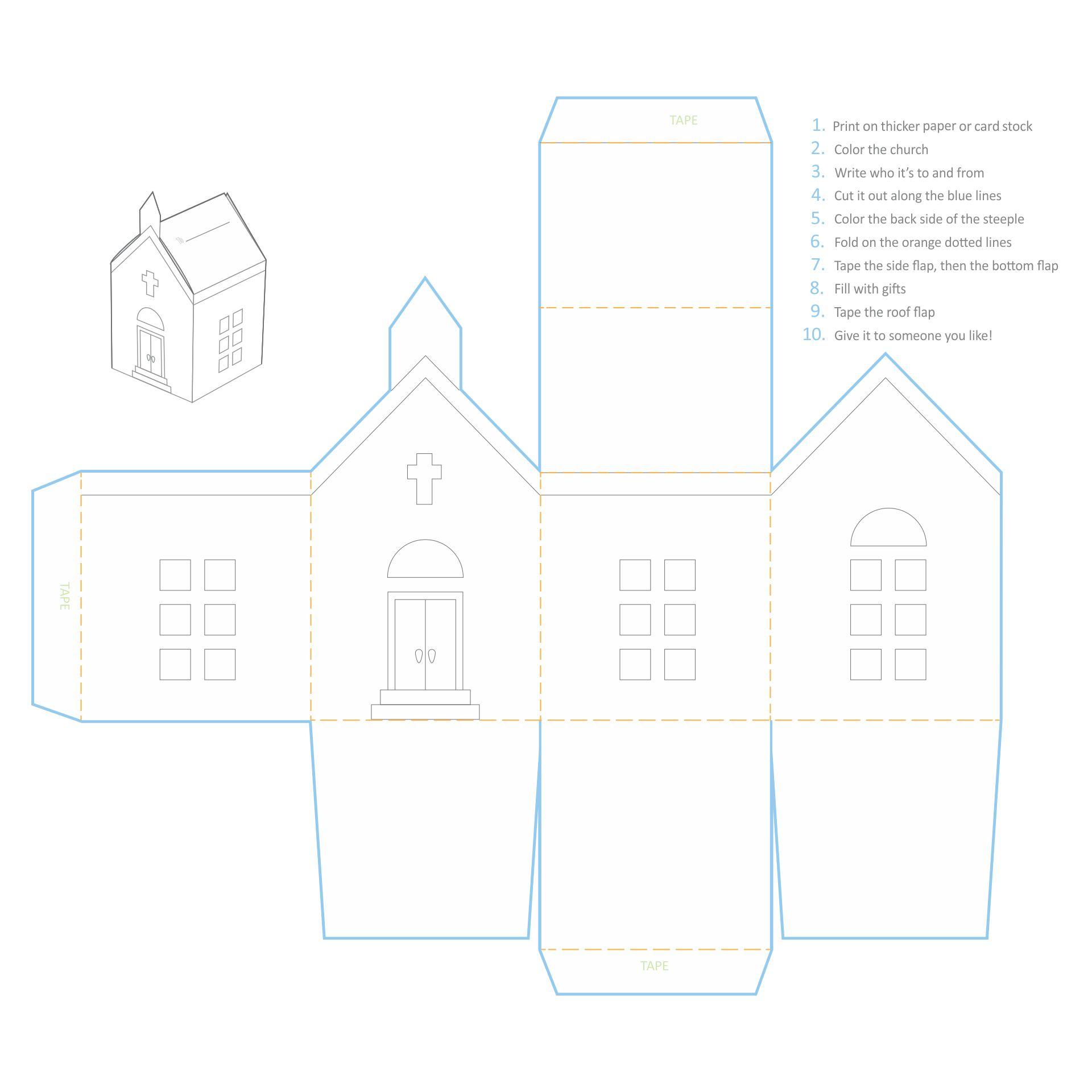 Printable Dollhouse Church