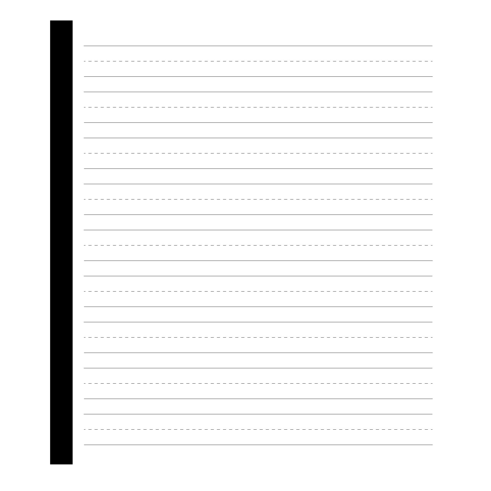 Printable First Grade Writing Paper Template