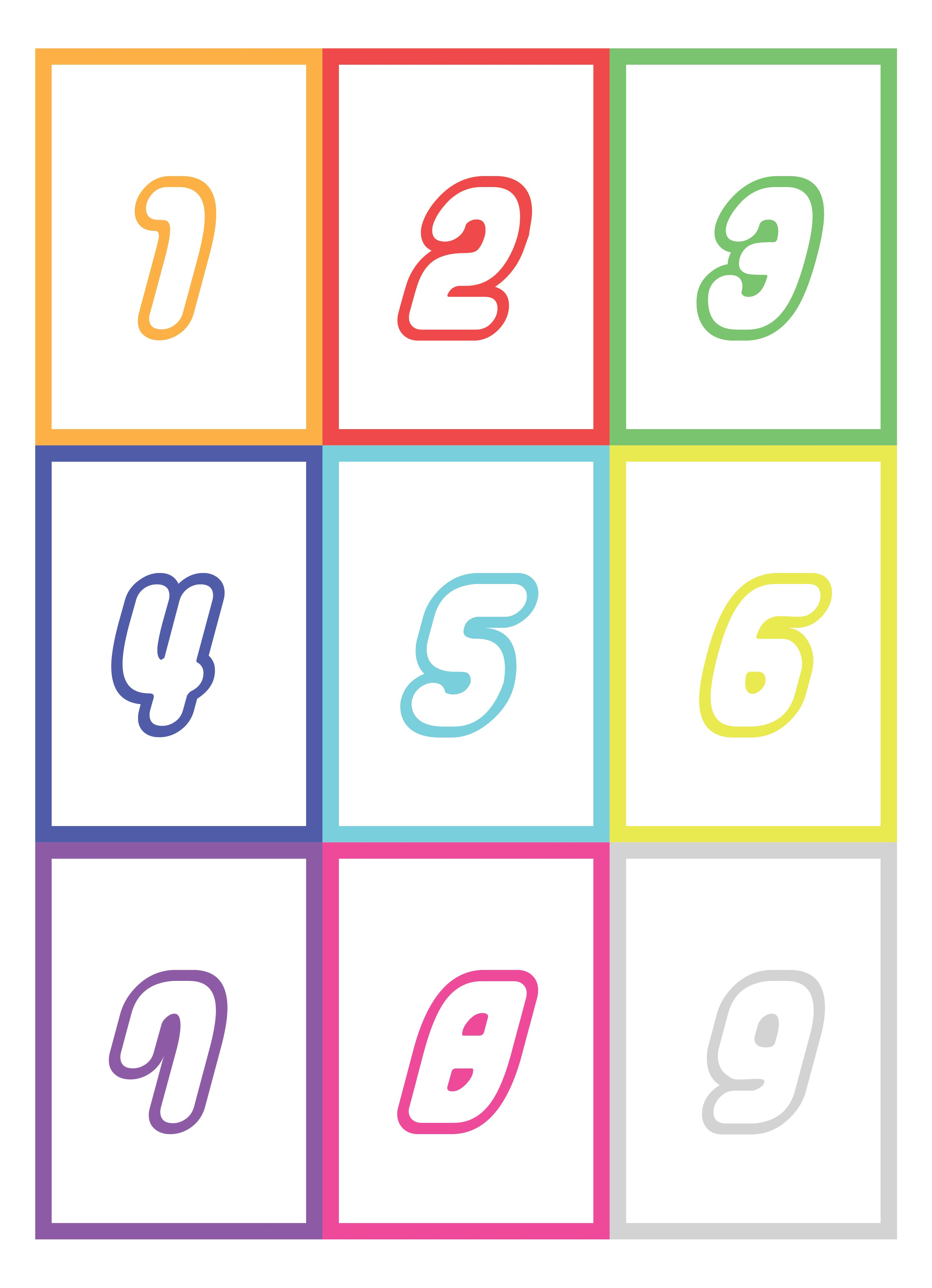 Printable Number Flash Card 1