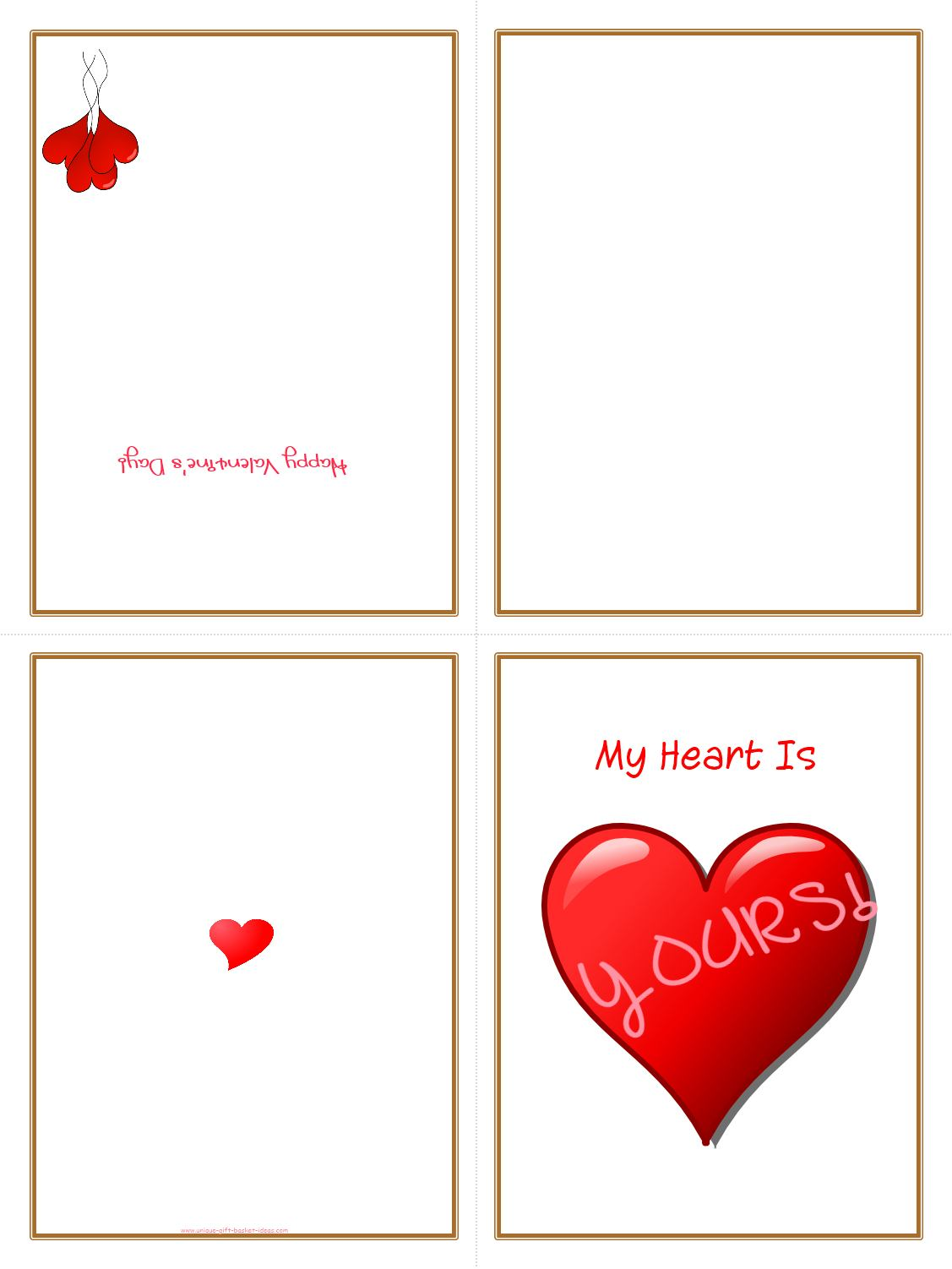 5 best images of free printable folding cards free printable foldable placecards template for Printable photo card