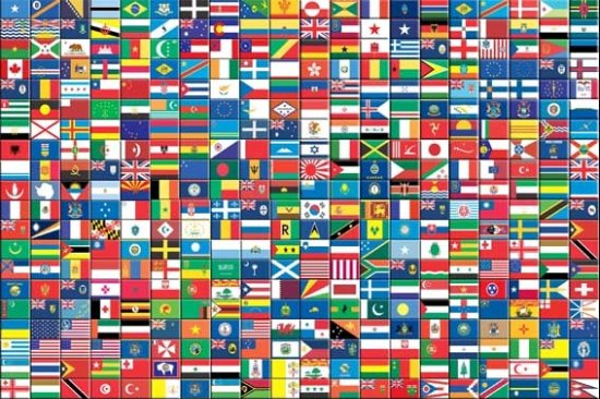 6 Images of International Flags Printable Pages