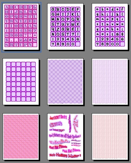 Red Hat Society Free Printables