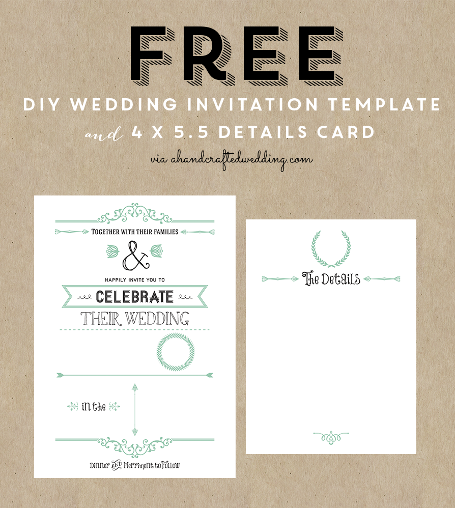 8 best images of wedding program template free printable for Templates for wedding invitations free to download