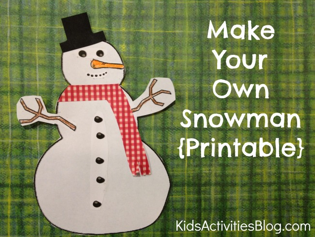 4 Images of Printable Snowman Craft