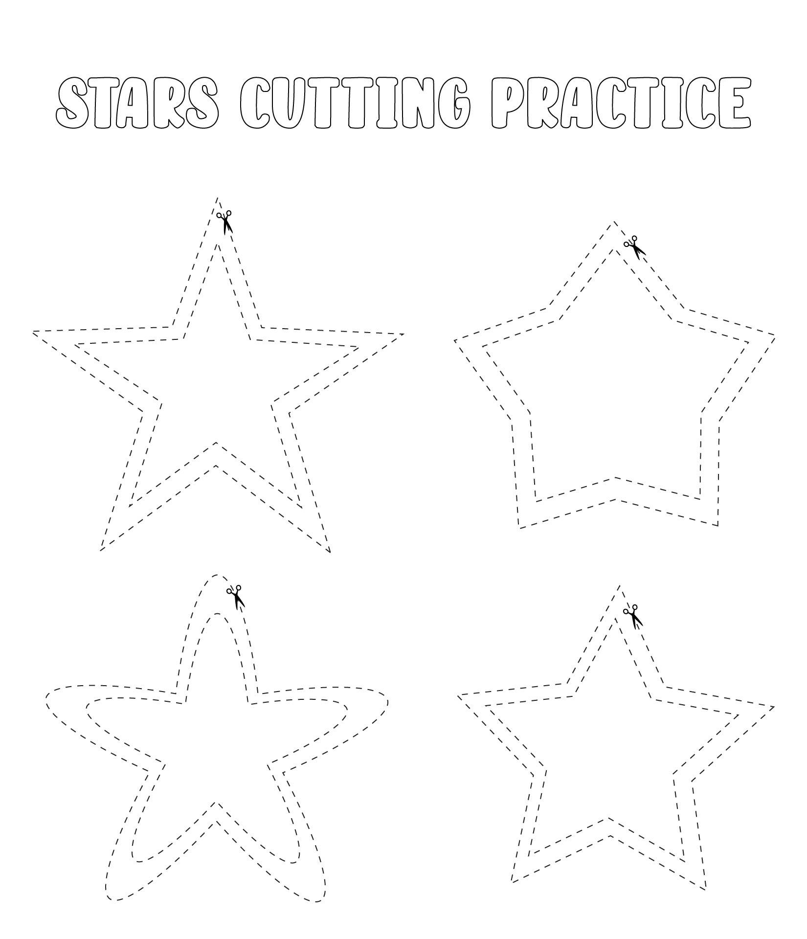 6 Images of Printable Preschool Worksheets Star Tracing