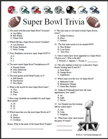 7 Images of Printable NFL Trivia Challenge