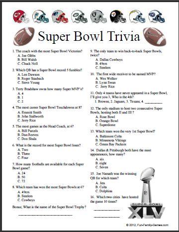 7 Images of Printable NFL Trivia Challenge