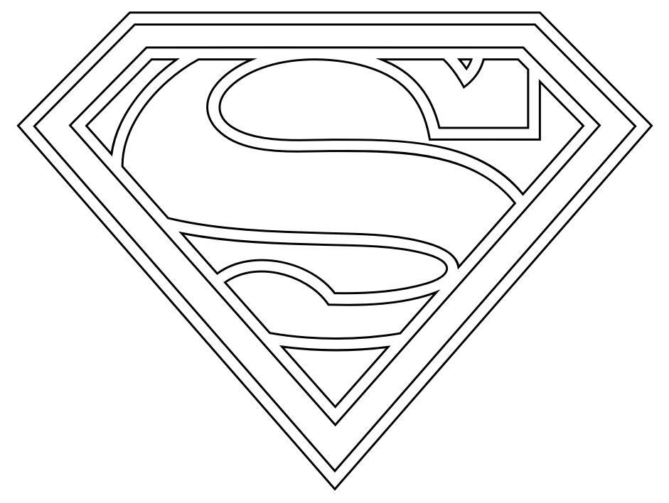 8 Images of Superman Template Printable