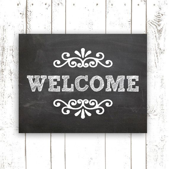 8 Images of Welcome Printable Chalkboard Art