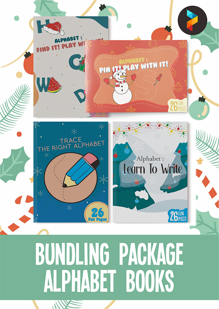 HOLIDAY BUNDLE - ALPHABET WORKSHEET EBOOK FOR KIDS ACTIVITY